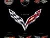 Corvette Crossed Flag Logos 1953-2014
