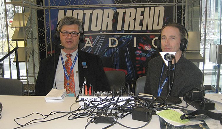 Bob Long on the left with Motor Trend writer, Todd Lassa